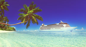 Cruise Vacation Travel Beach Summer Trip Sky Sea Concept Stock Images