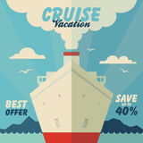 Cruise vacation and travel illustration. In flat design style Stock Photo