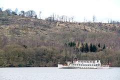 Cruise Vessel sailing in Brathay Bay Stock Photos