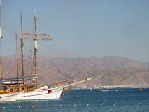 Cruise yachts. Docked in the Eilat marina royalty free stock photos