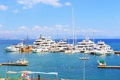 Corfu island yachts Greece Stock Images