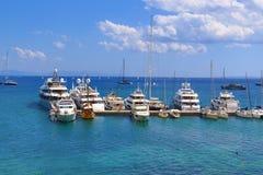 Corfu island yachts Greece Stock Photo