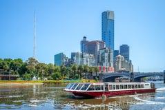 Cruise on yarra river in melbourne, australia stock photo