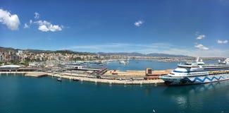 Cruisehaven en jachthaven in Palma de Mallorca Stock Afbeelding