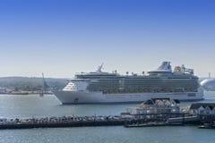 Cruisehaven in Southampton, Engeland stock afbeelding