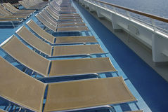 Cruisehip deck chairs Stock Photo