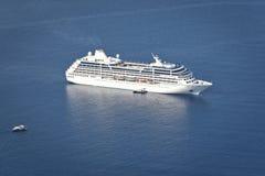 Cruiser. An image of a cruiser in the blue ocean stock photos