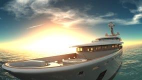 Cruiser. Image of cruiser and horizon Stock Images