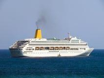 Cruiser. Tourist ship in the adriatic sea stock photo
