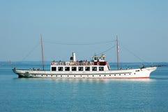 Cruiser. In the summer on the lake Balaton royalty free stock photo