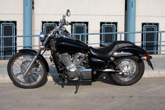 Cruiser. Style motorcycle on stand stock photography