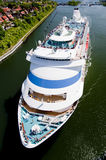 Cruiser. A cruiser in kiel canal Stock Images