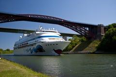 Cruiser. A cruiser in kiel canal Royalty Free Stock Image