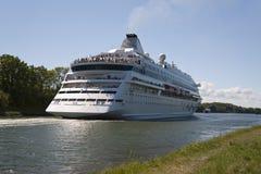 Cruiser. In kiel canal / germany Stock Photos
