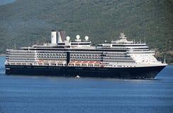 Cruiser arriving in Herceg Novi, Montenegro Royalty Free Stock Image