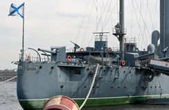 Cruiser Aurora. Royalty Free Stock Images