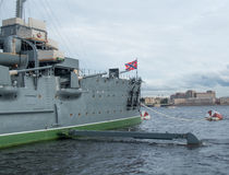 Cruiser Aurora on eternal parking. After the repair. in St. Petersburg, Russia. Royalty Free Stock Photography