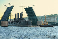 Cruiser Aurora Royalty Free Stock Photography