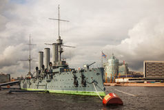 Cruiser Aurora in Saint Petersburg, Russia Royalty Free Stock Photography