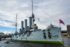 Cruiser Aurora in the Saint-Petersburg. Russia Royalty Free Stock Photos