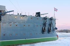 Cruiser Aurora, Warship museum Stock Image