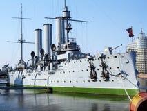 Cruiser Avrora. Old cruiser Avrora in the city Sankt-Peterburg stock images