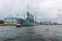 Cruiser Avrora in the city St.-Petersburg. Russia Stock Image