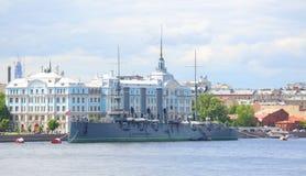 The cruiser Avrora stock photos