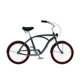 Cruiser bicycle_2. Black cruiser bicycle isolated on white Royalty Free Stock Photos
