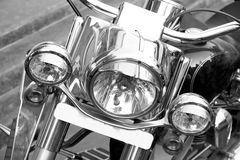 Cruiser bike headlights Stock Photo