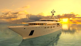 Cruiser. 3D CG rendering of a cruiser royalty free stock image
