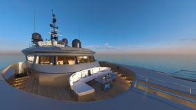 Cruiser. 3D CG rendering of the cruiser Royalty Free Stock Image