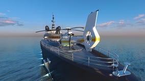 Cruiser. 3D CG rendering of the cruiser Royalty Free Stock Photo