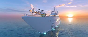 Cruiser. 3D CG rendering of the cruiser Royalty Free Stock Photography