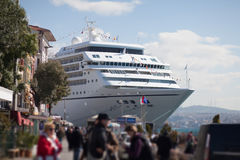 Cruiser embarkation Stock Photo