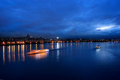 Cruiser in Hangang River Seoul Royalty Free Stock Photography