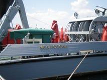 Cruiser Melitopol. Melitopol cruiser located on Lake Donuzlav North of Crimea Royalty Free Stock Photos