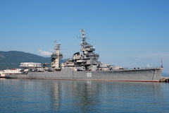 Cruiser Mikhail Kutuzov Royalty Free Stock Photos