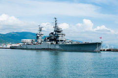 Cruiser Mikhail Kutuzov Novorossiysk, Russia Stock Photography