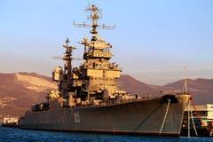 The cruiser Mikhail Kutuzov Stock Photo