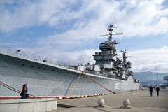 Cruiser Mikhail Kutuzov in Novorossiysk, Russia. Ft now is a museum. Royalty Free Stock Photo