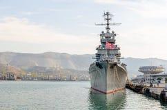 The cruiser Mikhail Kutuzov. Novorossiysk, Russia. Stock Photo