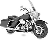 Cruiser motorcycle Royalty Free Stock Images