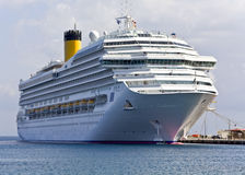 Cruiser at Rhodes island, Greece Royalty Free Stock Image