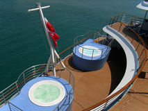 Cruiser's Deck. Top deck in a cruise liner with pools and jacuzzis Royalty Free Stock Photography