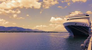 A Cruiser Ship docked in Cairns Stock Image