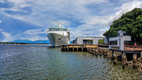 Cruiser ship in the port of Cairns Royalty Free Stock Image