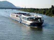 Cruiser in Vienna. Cruiser on Danube river, Vienna Royalty Free Stock Photography