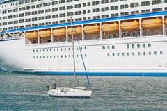 Cruisers and sailboats. Royalty Free Stock Image