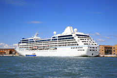 Cruises. Cruise ship moored in Venice Royalty Free Stock Photo